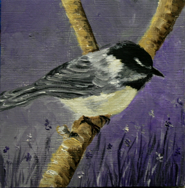 """Mt. Chicadee"" original fine art by Jean Nelson"