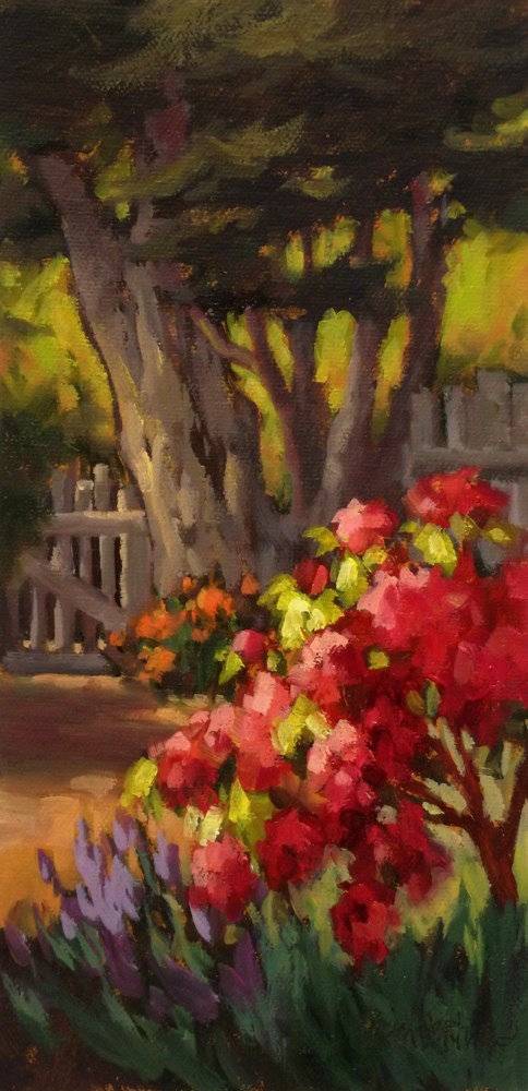 """Sunshine's Garden"" original fine art by Erin Dertner"