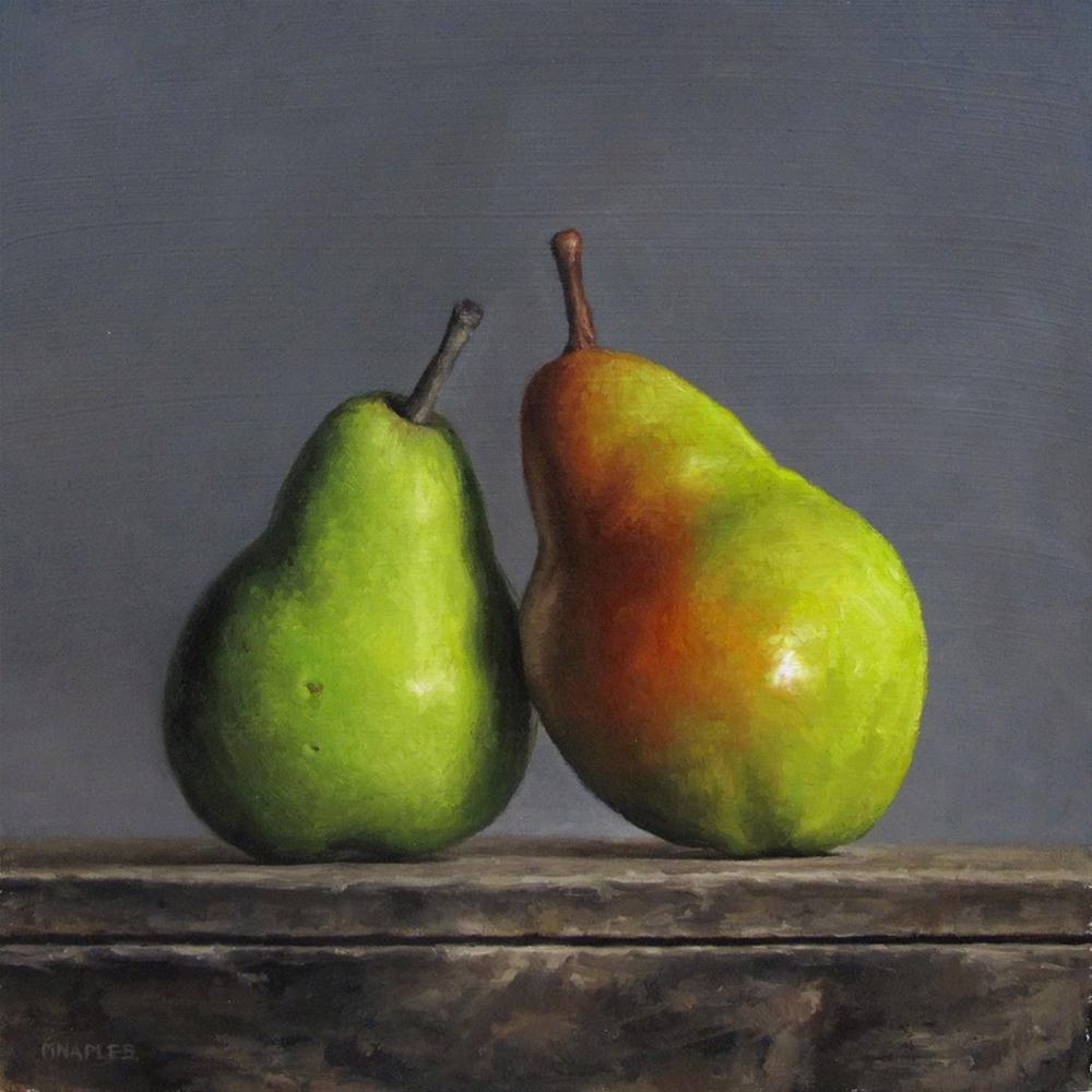 """Leaning Pair"" original fine art by Michael Naples"
