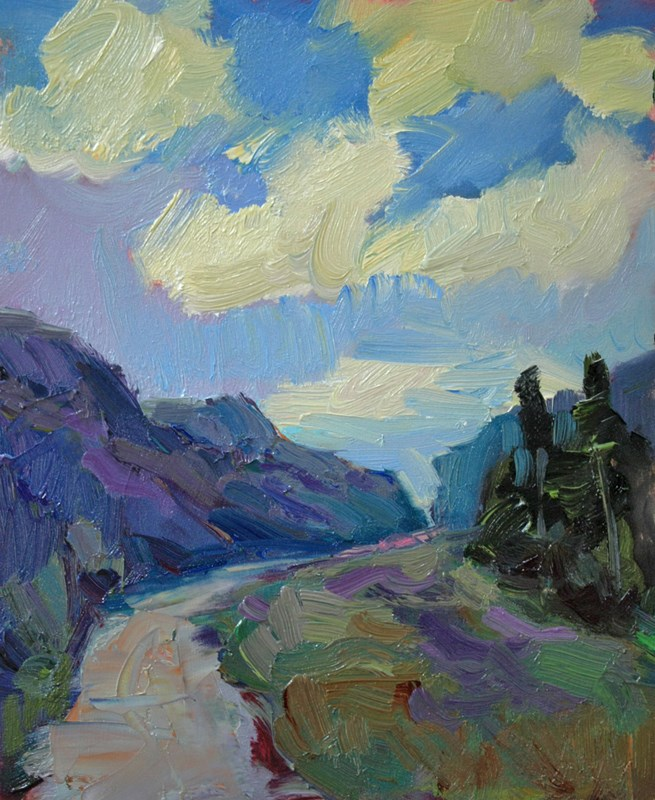 """Road to Artist Point"" original fine art by Kathryn Townsend"