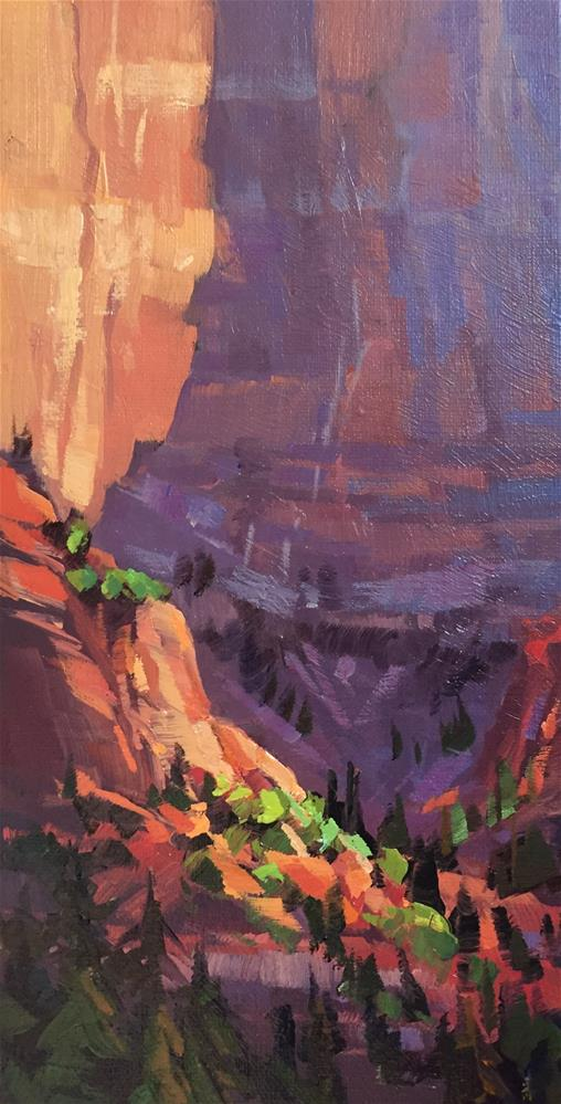 """Hidden Colors of Kolob"" original fine art by Mary Jabens"