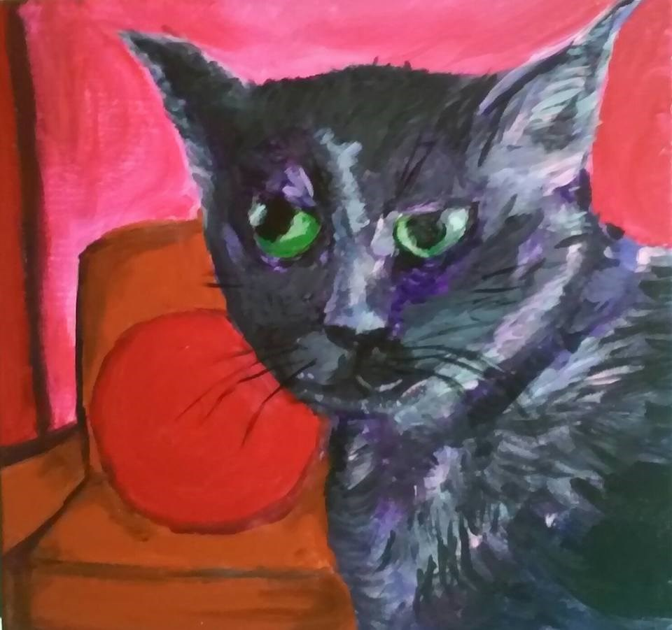 """Mortimer"" original fine art by Hallie Dozier"