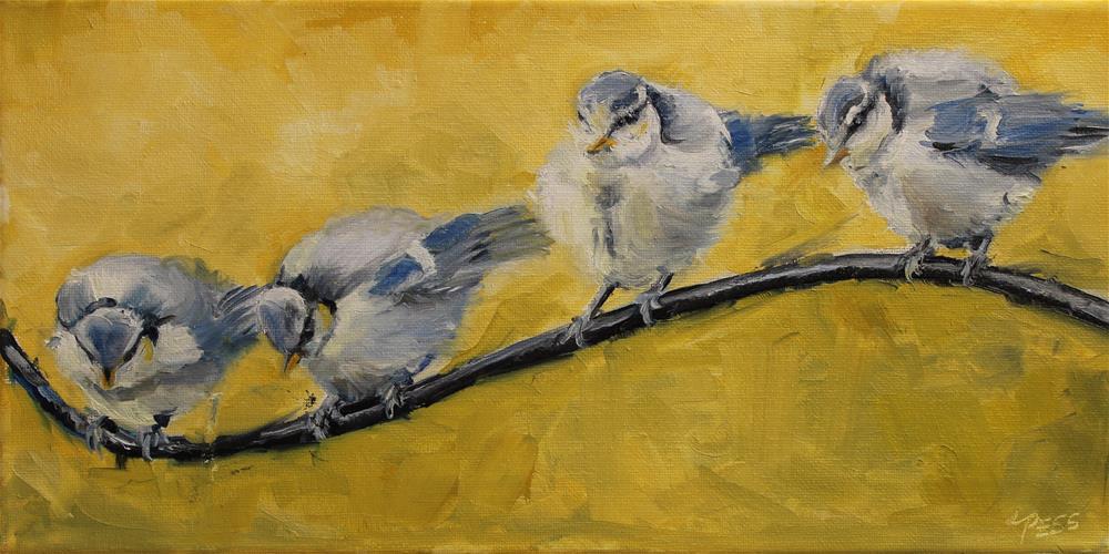 """For the Birds"" original fine art by Tess Lehman"