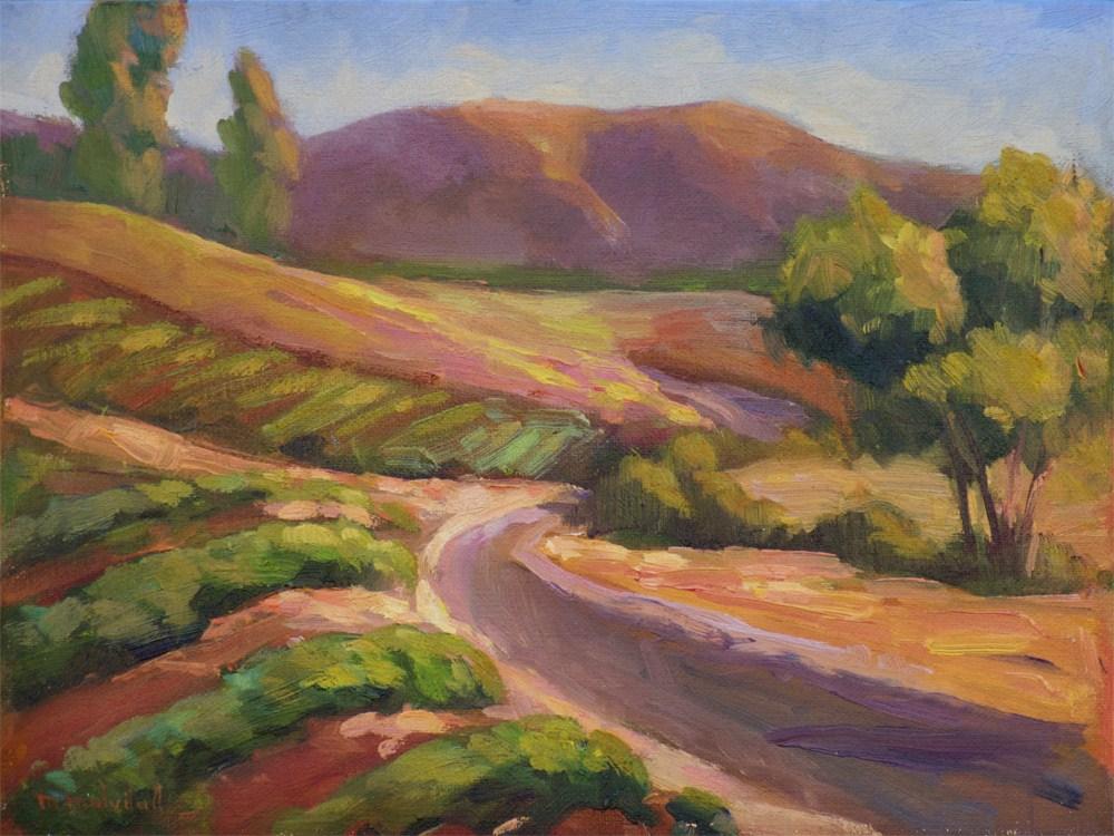 """Sunset Temecula Vineyard"" original fine art by Mary Mulvihill"