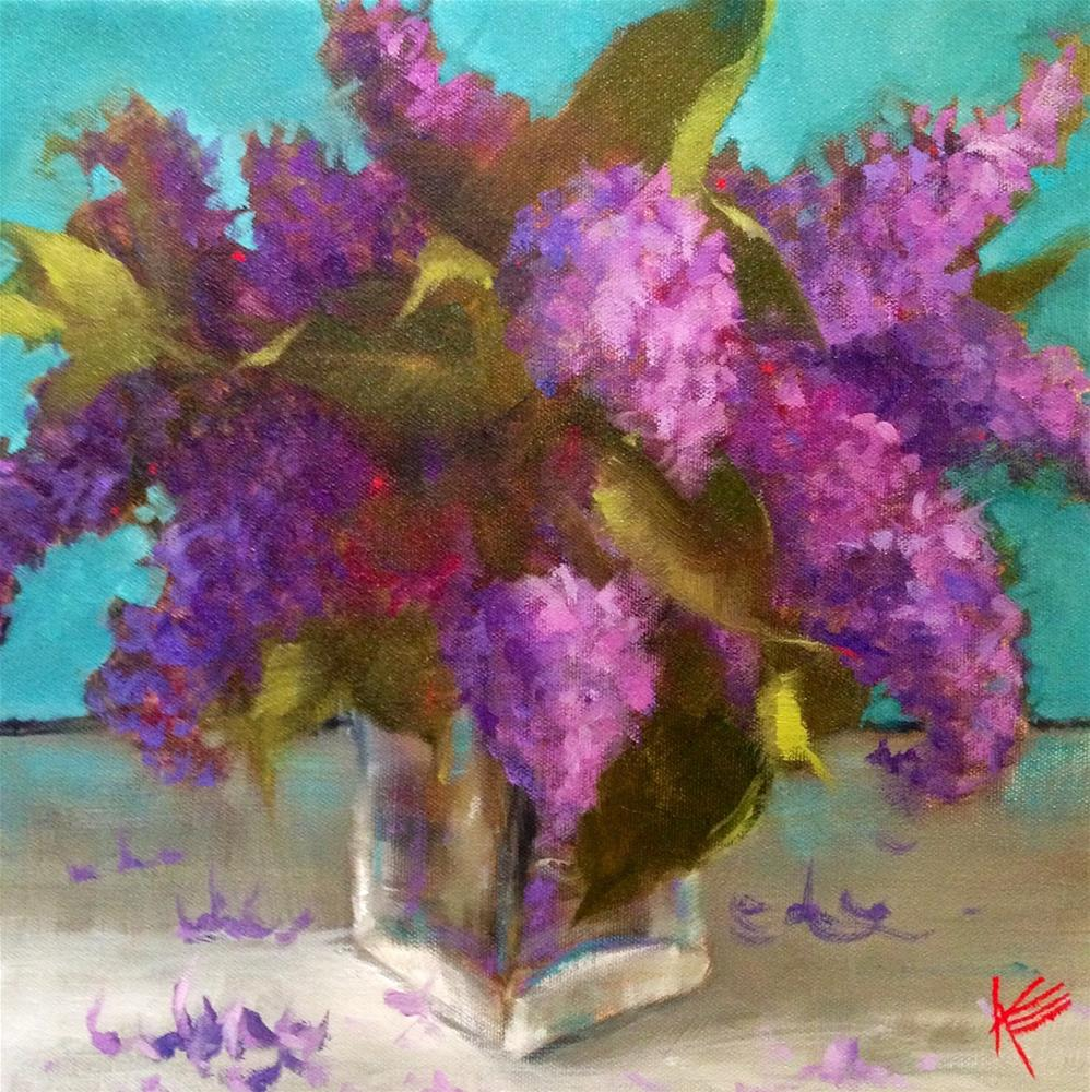 """Lilac"" original fine art by Krista Eaton"