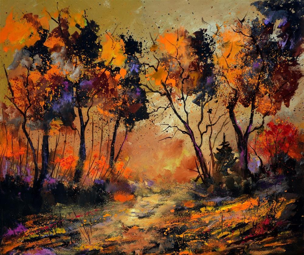 """autumn 766130"" original fine art by Pol Ledent"