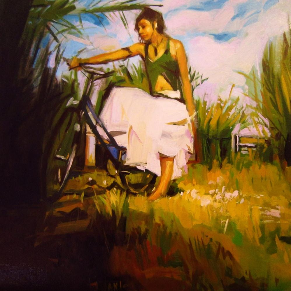 """Hippie bike"" original fine art by Víctor Tristante"