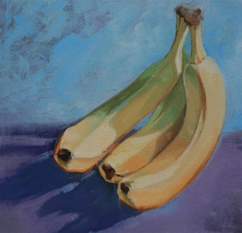 """Bananas"" original fine art by Jane Robertson"