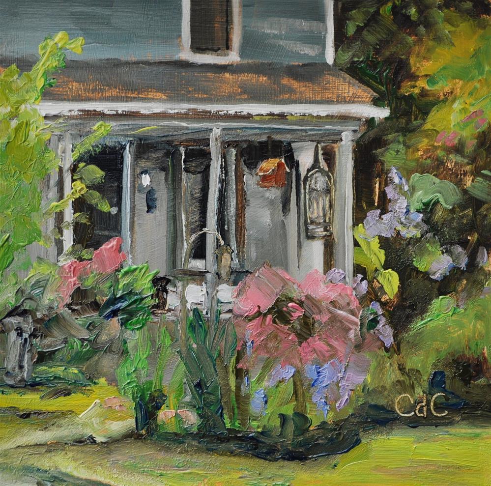 """The Cottage Garden Look"" original fine art by Catherine Crookston"