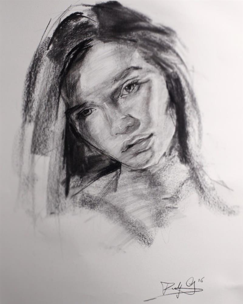 """Portrait Sketch"" original fine art by Dimitriy Gritsenko"
