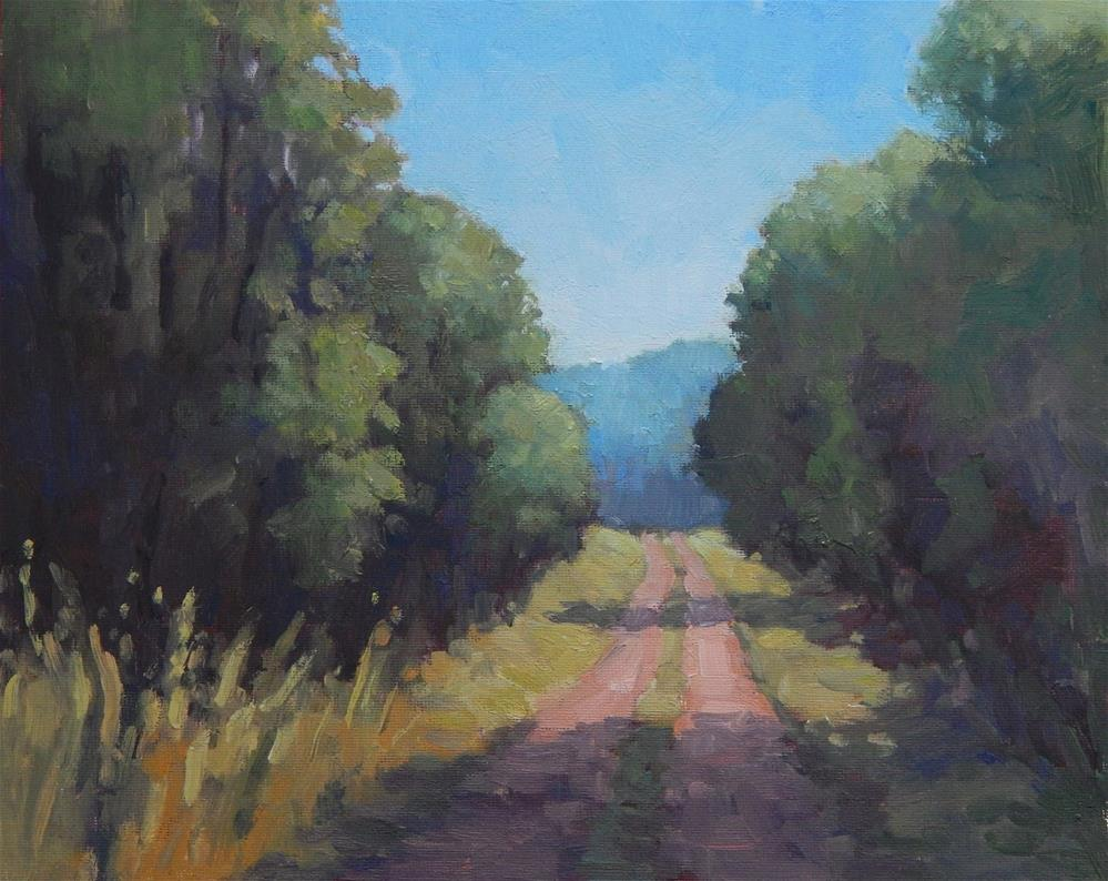 """The Unmarked Road"" original fine art by Lisa Kyle"