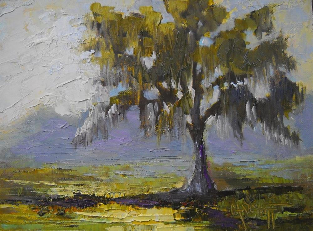 """""""Tree painting, Daily Painting, Small Oil Painting, 6x8 Oil Landscape"""" original fine art by Carol Schiff"""