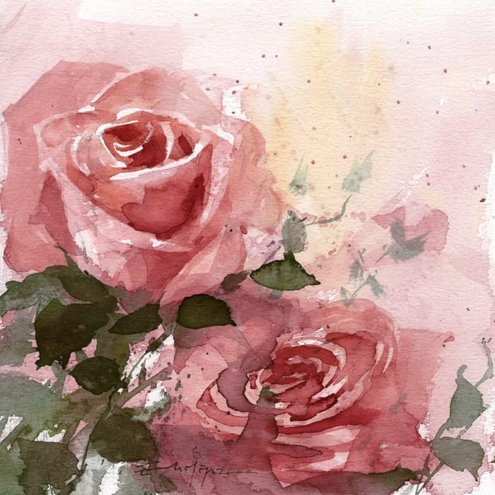 """""""Flores 34"""" original fine art by Emilio López"""