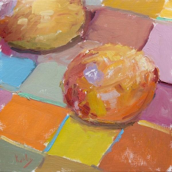 """Plum Checkered"" original fine art by Randall Cogburn"
