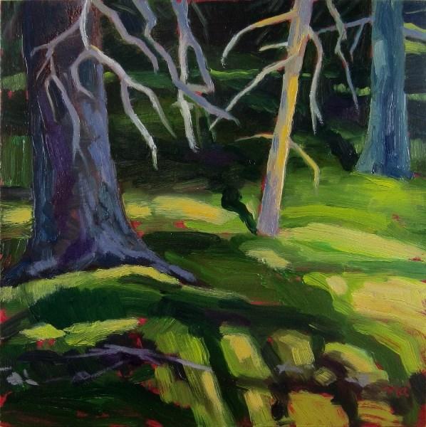 """Chartreuse Beam"" original fine art by Nicki Ault"