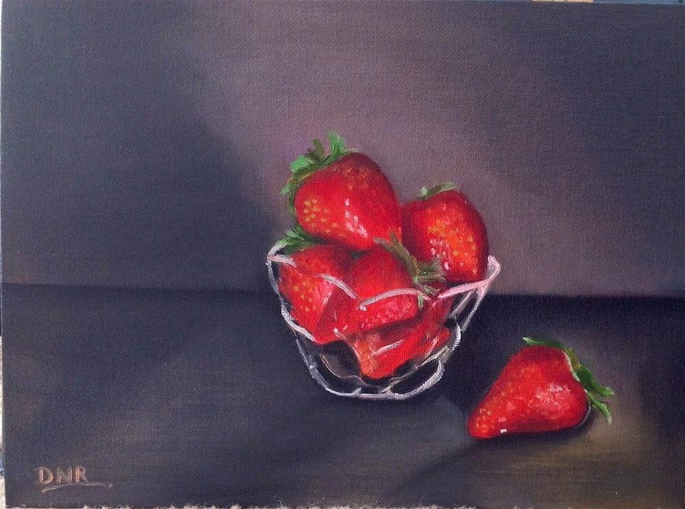 """Strawberry"" original fine art by Dipali Rabadiya"