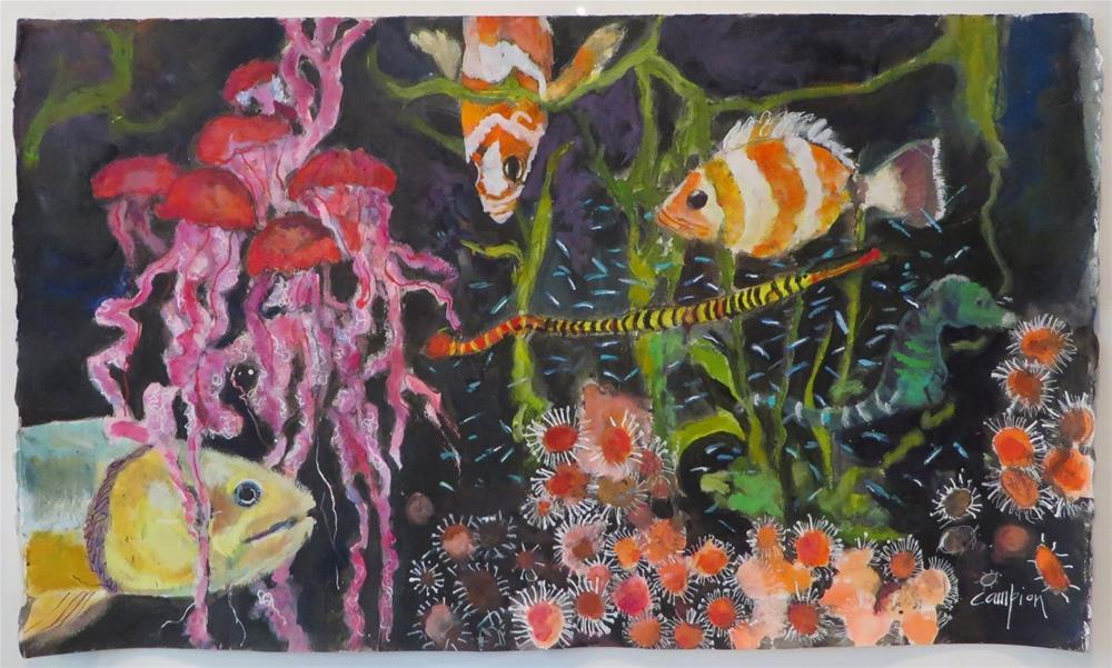 """800 Under the Sea (at the Shedd Aquarium)"" original fine art by Diane Campion"