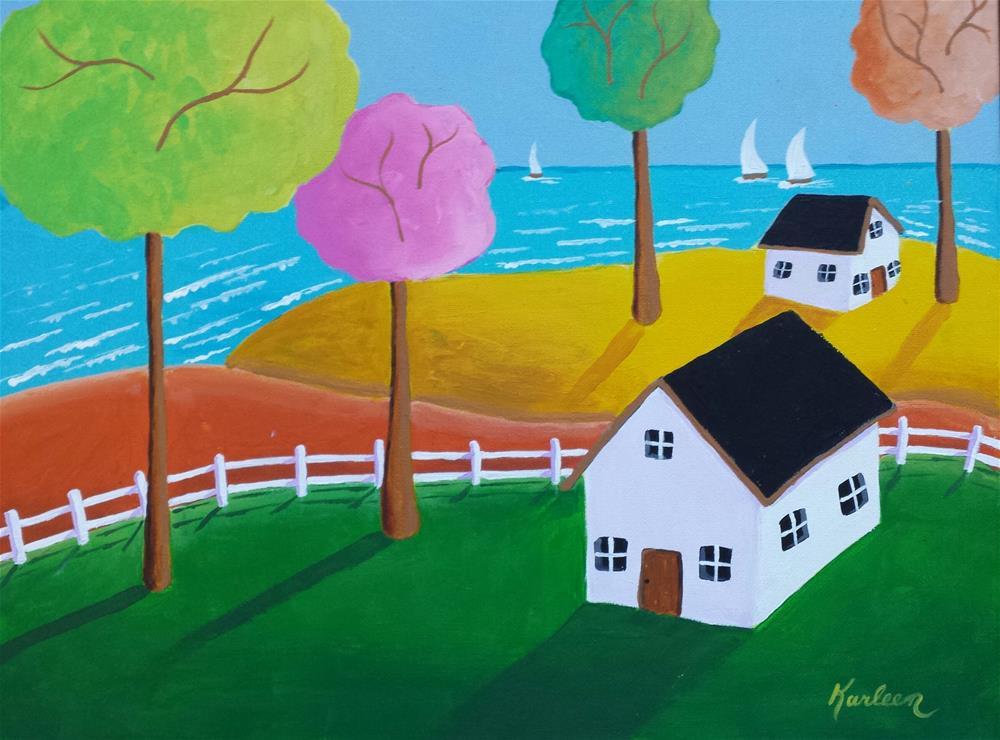 """Home Sweet Home"" original fine art by Karleen Kareem"