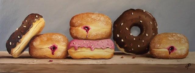 """""""Doughnuts Galore"""" original fine art by Jane Palmer"""