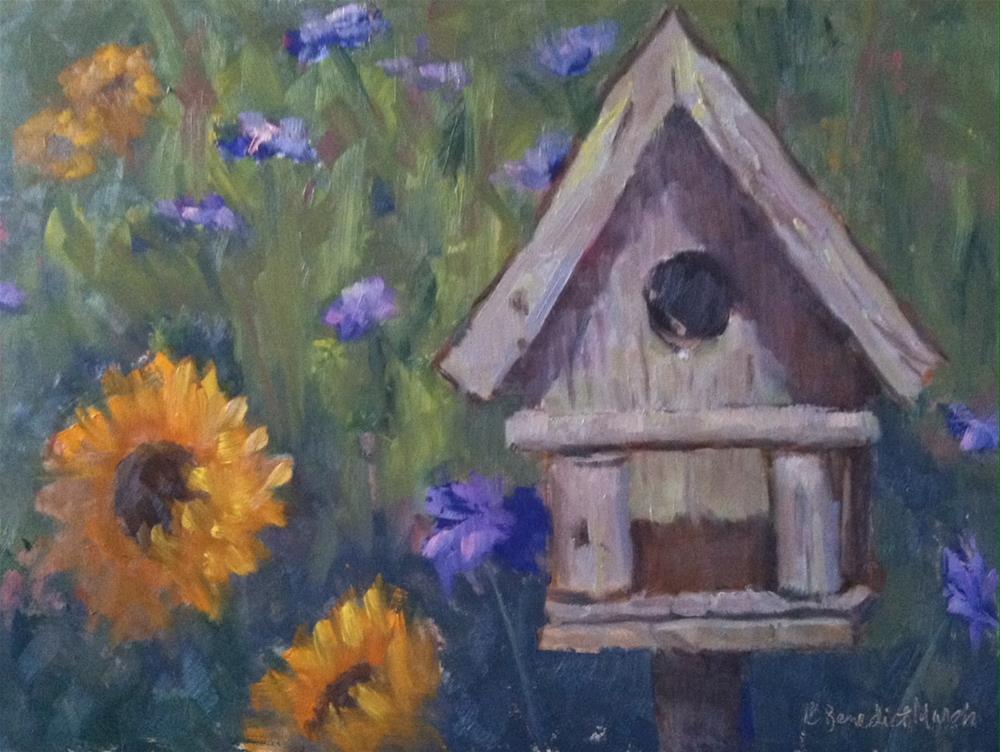 """""""Bird House"""" original fine art by Katharine March"""