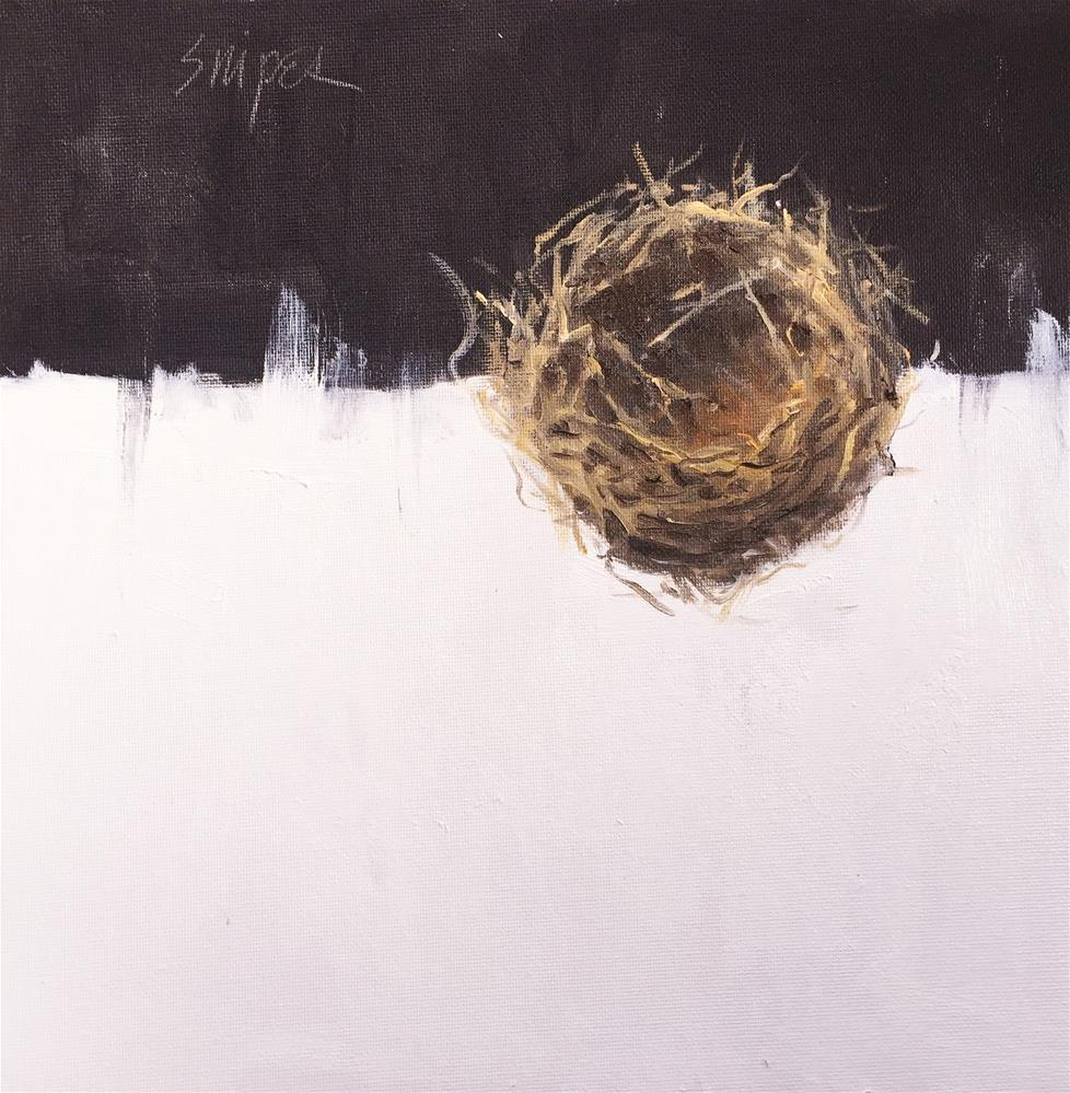 """Birdnest, Number 1"" original fine art by Connie Snipes"