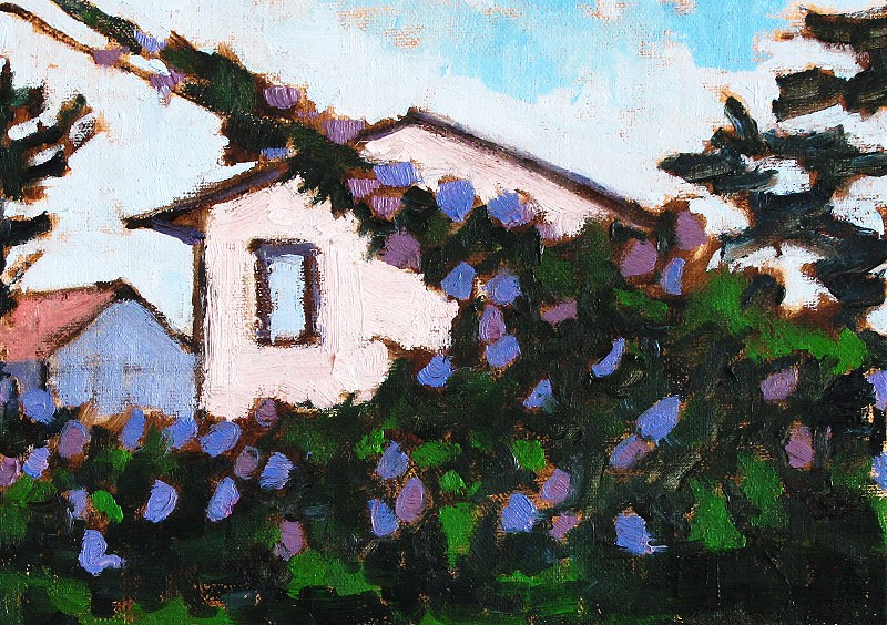 """Morning Glory Vines in Santa Barbara"" original fine art by Kevin Inman"