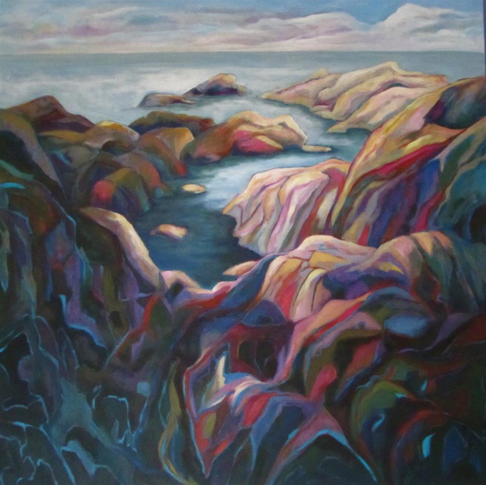 """Rocks at Ucluelet"" original fine art by Patricia MacDonald"