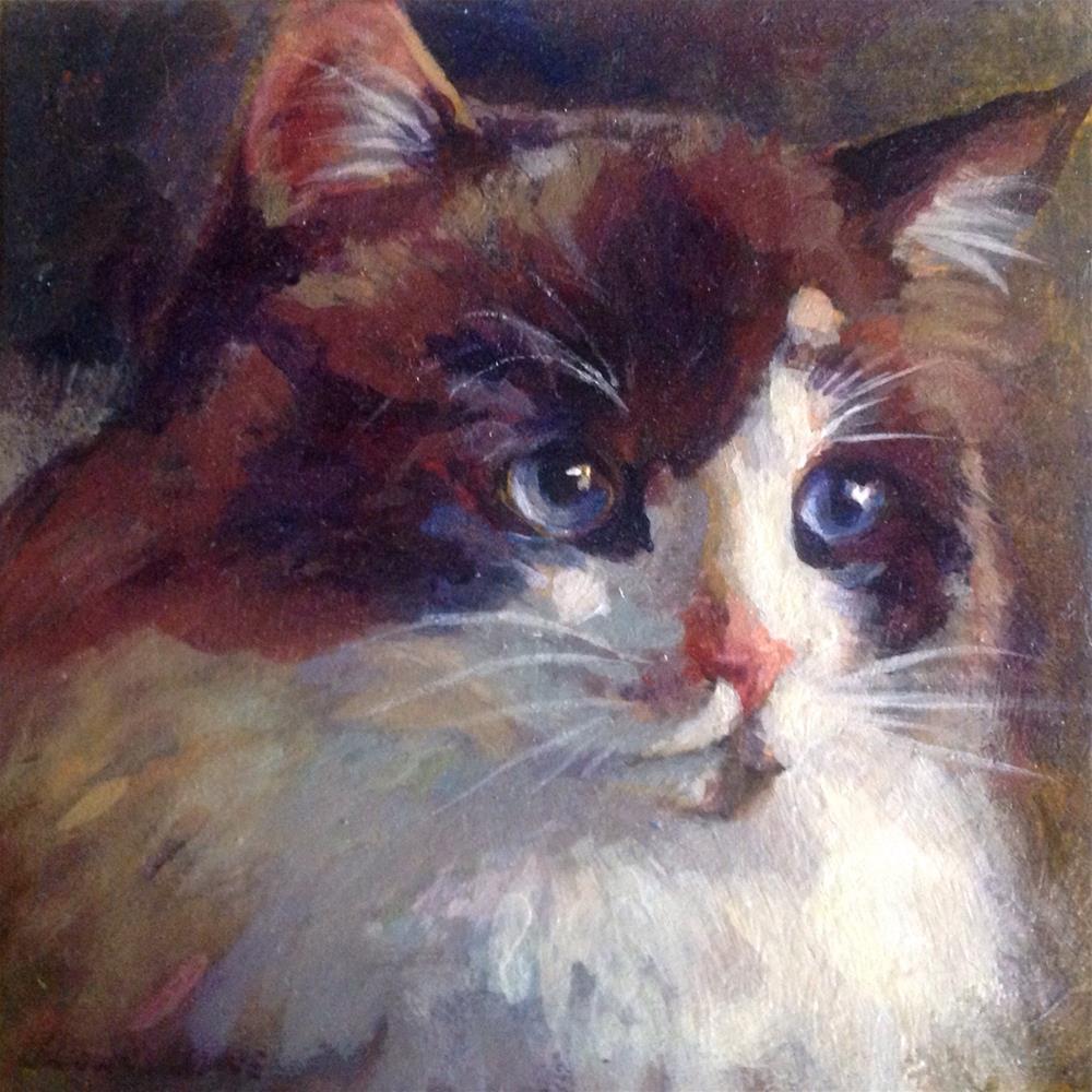 """RagaMuffin Shayna"" original fine art by Judy Downs"