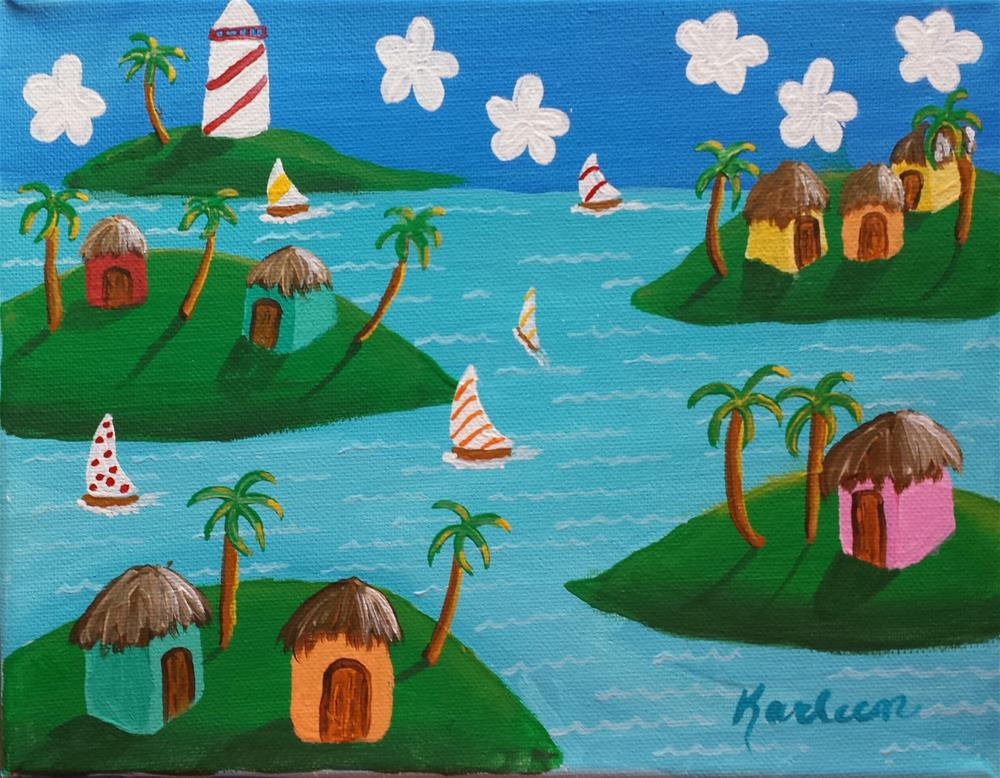 """A Tropical Day"" original fine art by Karleen Kareem"
