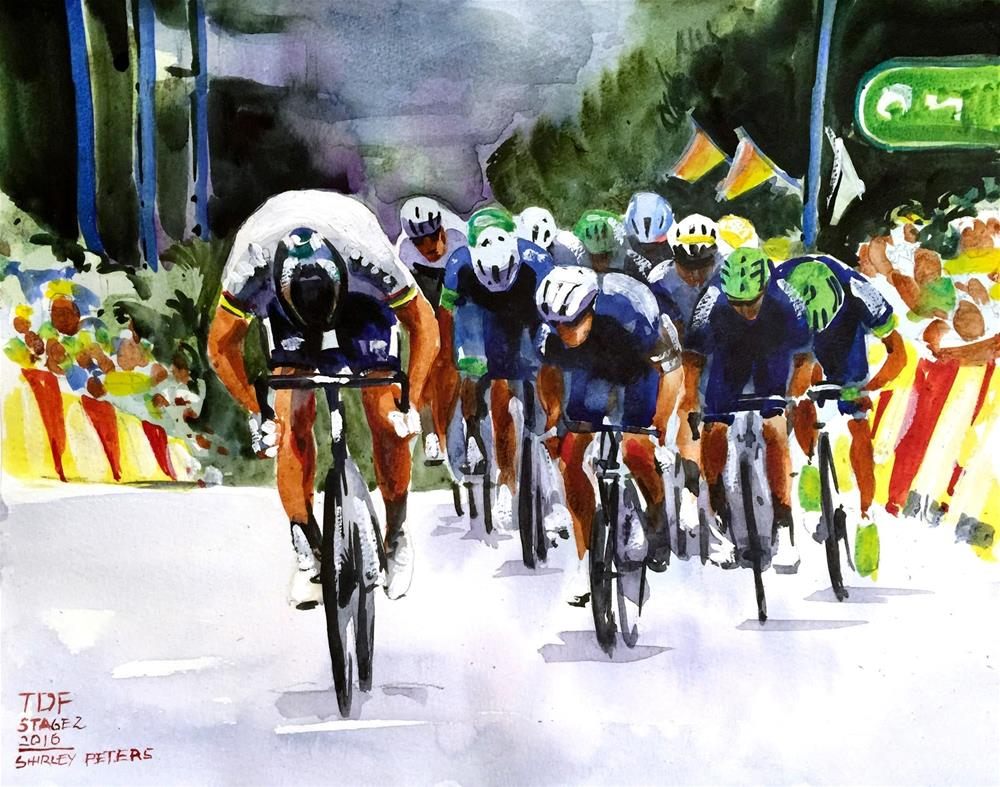 """Peter Sagan"" original fine art by Shirley Peters"