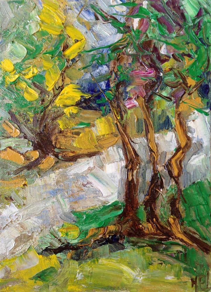"""Trees"" original fine art by Monica Pinotti"