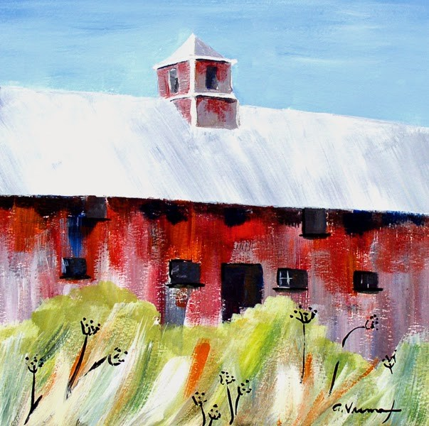 """Barn #13 - Broad Side of the Barn"" original fine art by Anna Vreman"