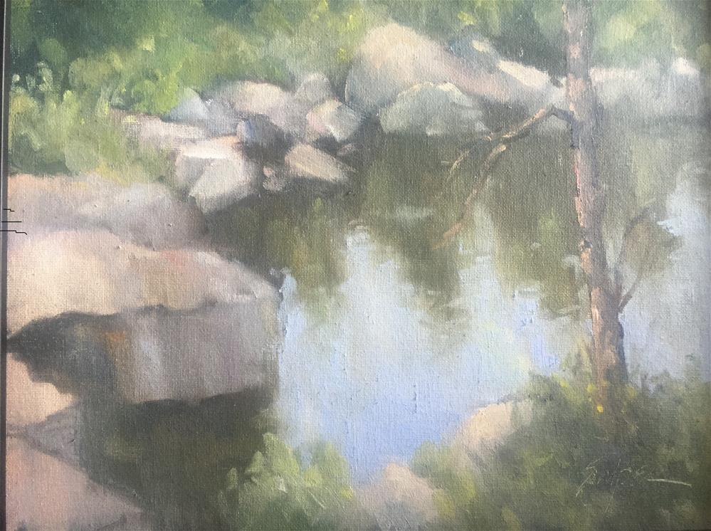 """Dunn Mountain Quarry"" original fine art by Connie Snipes"