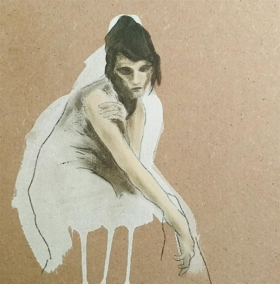 """""""Snow White 1"""" original fine art by Sandra Woerner"""