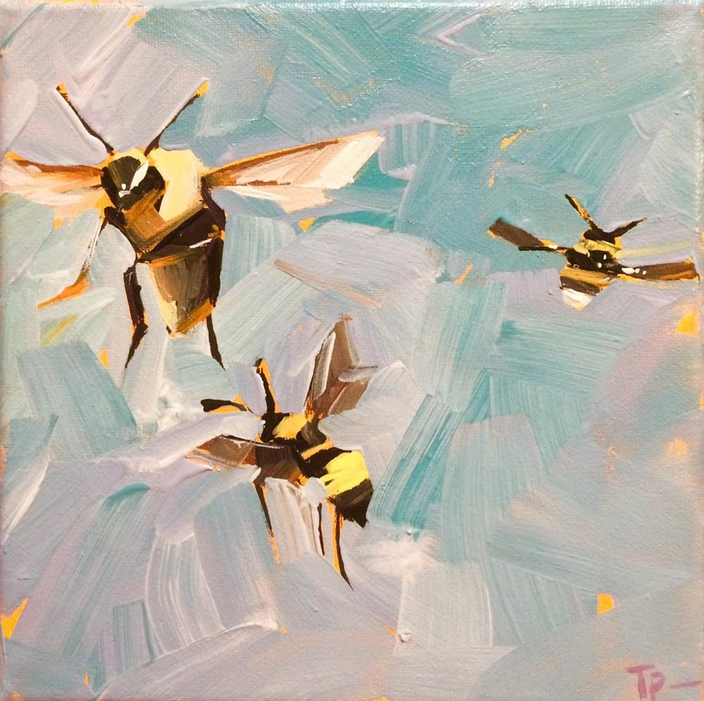 """We Need Bees No.2"" original fine art by Teddi Parker"