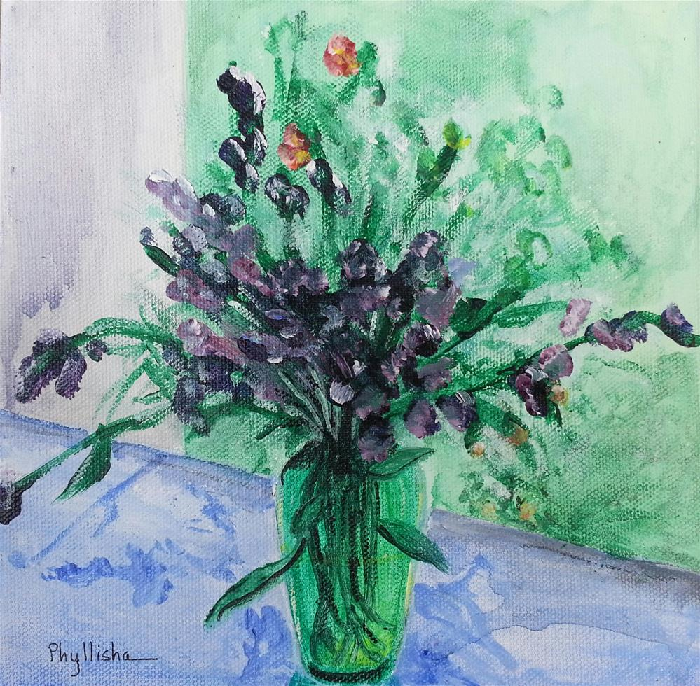 """Bouquet in Purple"" original fine art by Phyllisha Hamrick"