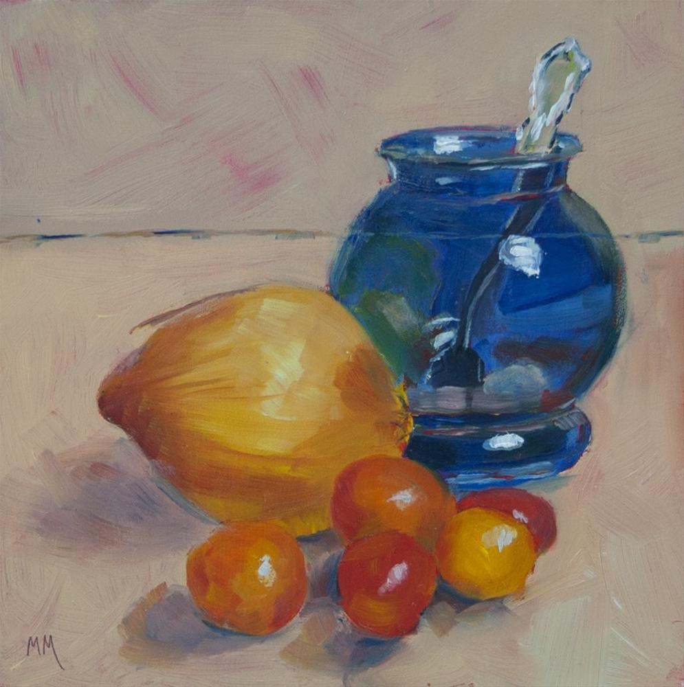 """Clear Blue Vase"" original fine art by Maria McNitt"