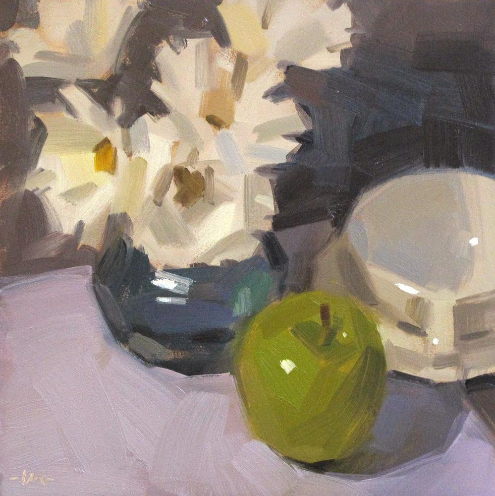 """A Good Spot For An Apple"" original fine art by Carol Marine"