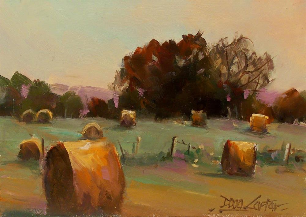 """ FARMLAND FIELDS "" original fine art by Doug Carter"