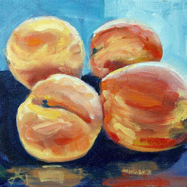"""Peaches"" original fine art by J. Farnsworth"