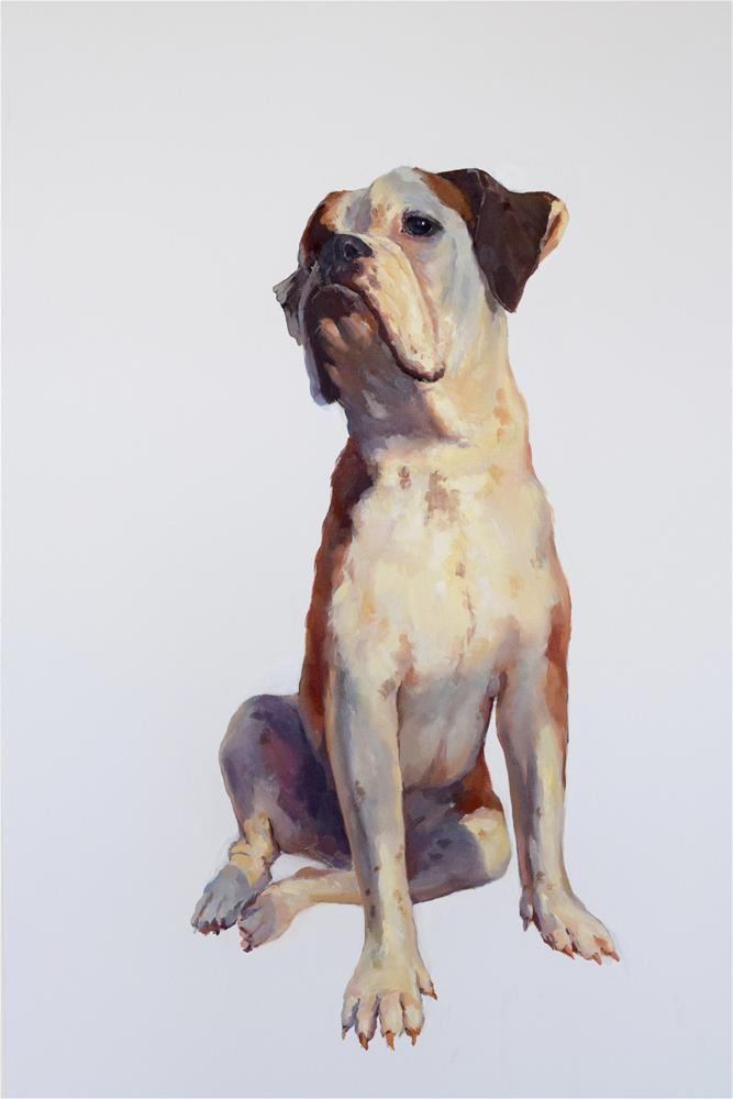 """""""boxer"""" original fine art by Jingyi Wang"""