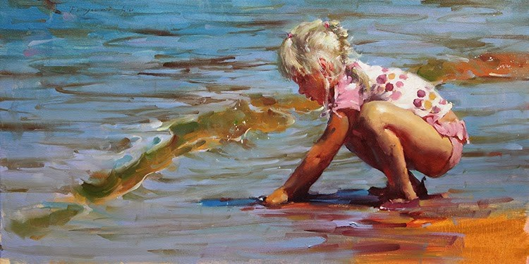 """Summer in Tahoe 3"" original fine art by Fongwei Liu"
