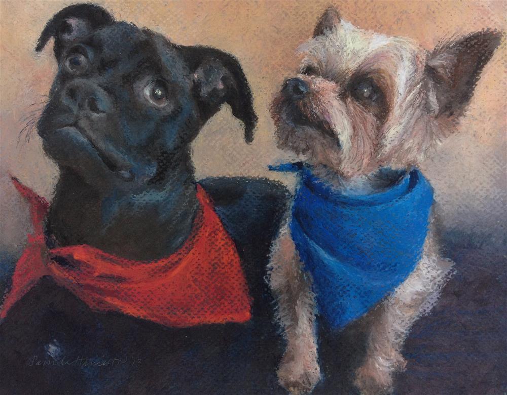 """Ruger & Kris"" original fine art by Pamela Hamilton"