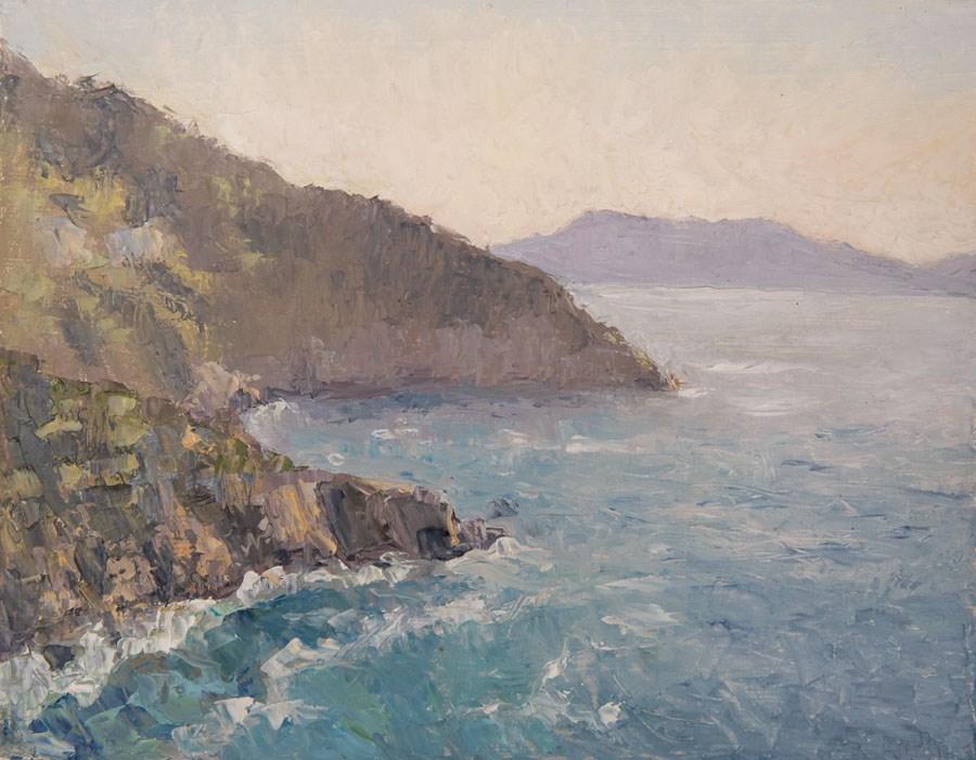 """Island Coast"" original fine art by Jethro Knight"