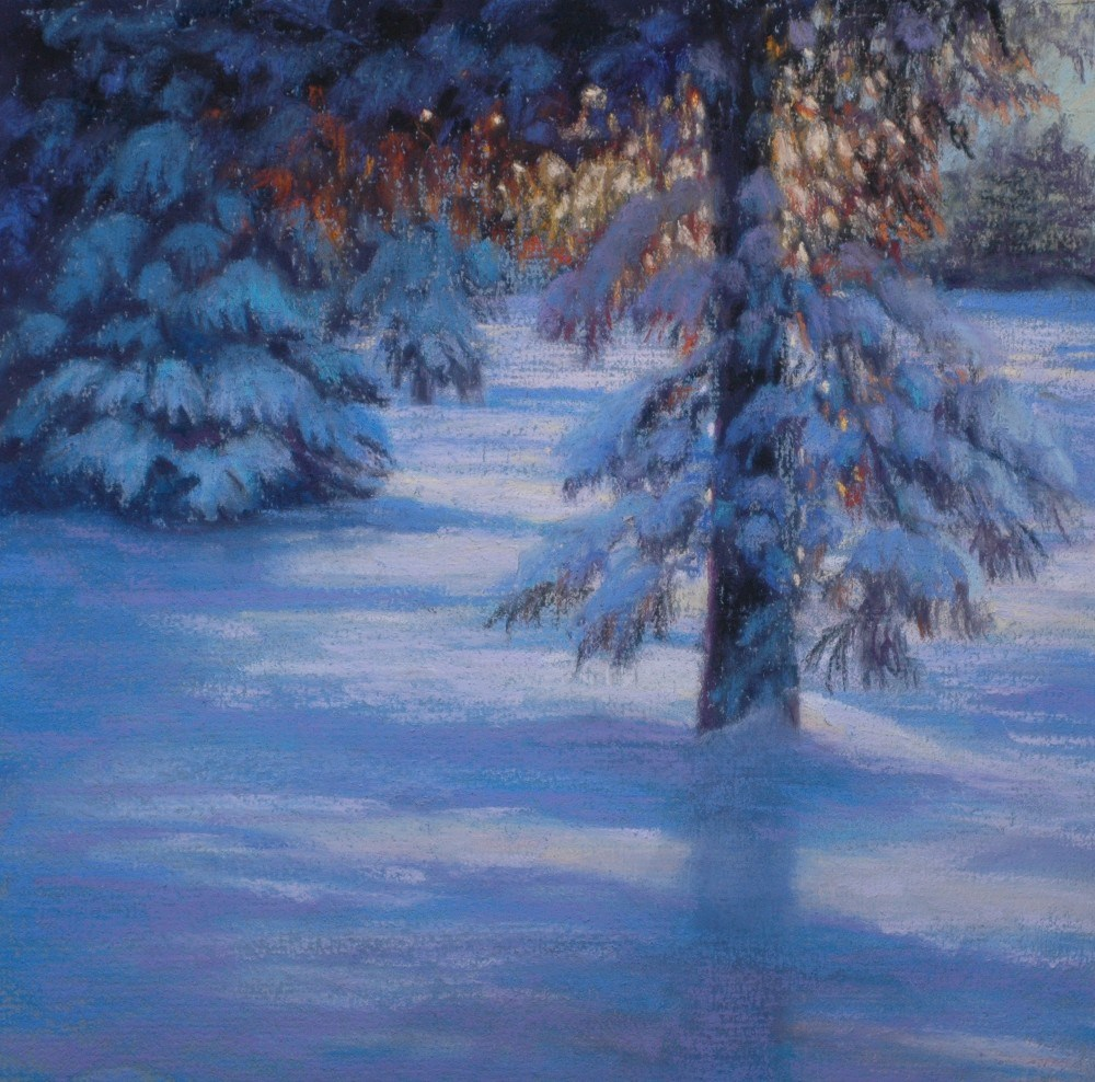 """Winter Sunrise"" original fine art by Susan Klabak"