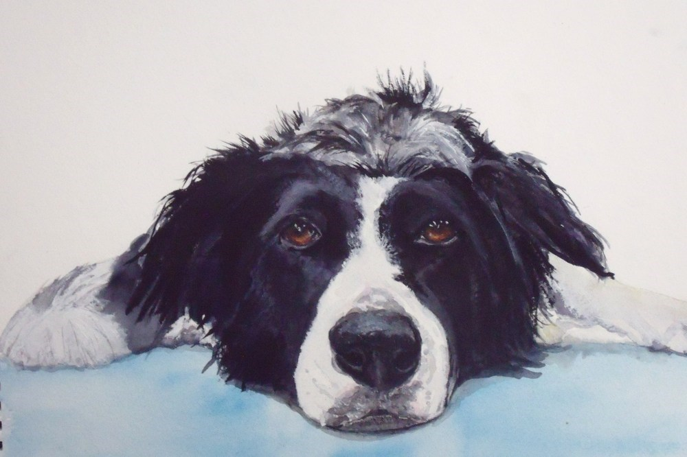 """Ruff Day"" original fine art by Nelvia McGrath"