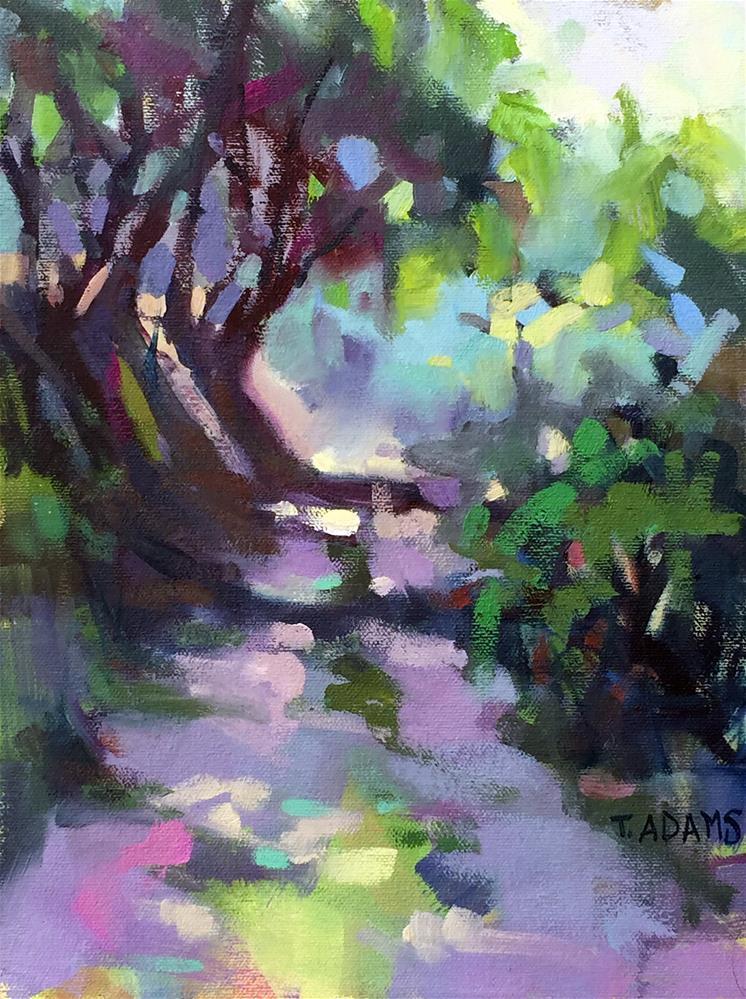 """""""Farm Road at La Capella"""" original fine art by Trisha Adams"""