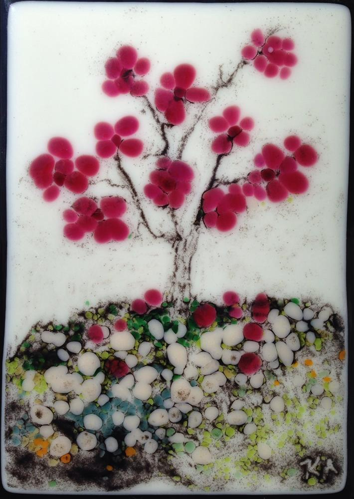 """Cherry Blossoms"" original fine art by Kris Alge"