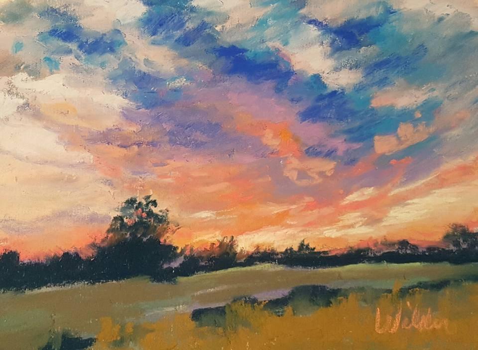 """October Sunset"" original fine art by Judy Wilder Dalton"