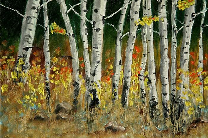 """Aspens"" original fine art by Sunny Williams"